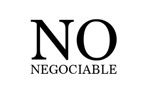 No negociable
